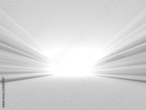 Fototapeta tunel  streszczenie-biale-wnetrze-tunelu-3-d