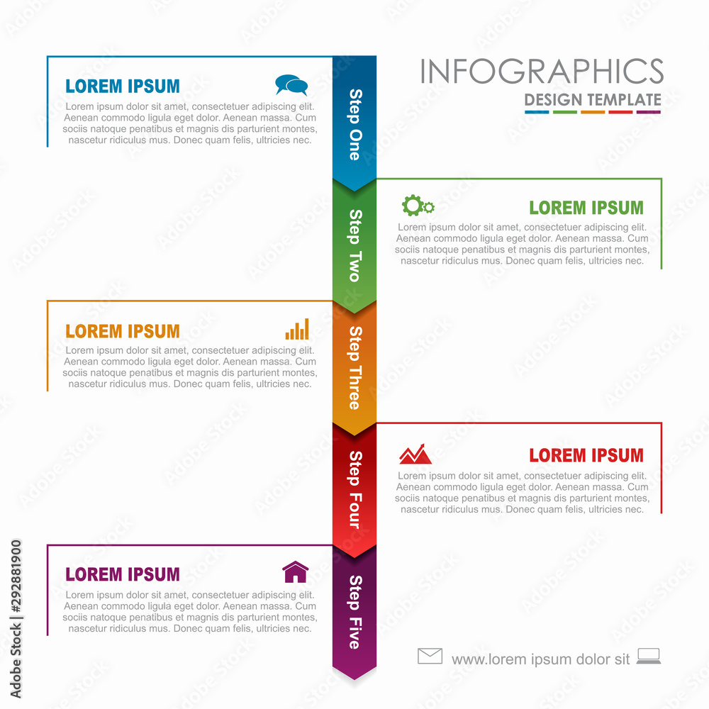 Fototapeta Infographic design template with place for your data. Vector illustration.