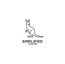 Kangaroo Line Logo Icon Designs Vector