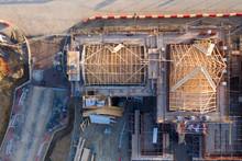 Aerial View Over A Constructio...