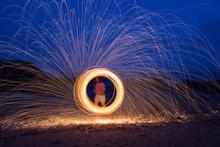 A Woman Doing Circular Spinnin...