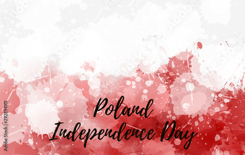 Poland Independence day abstract flag Fototapete