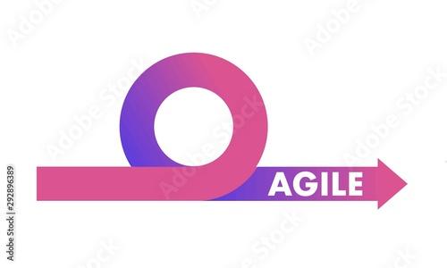 Agile development methodology icon vector illustration Wallpaper Mural