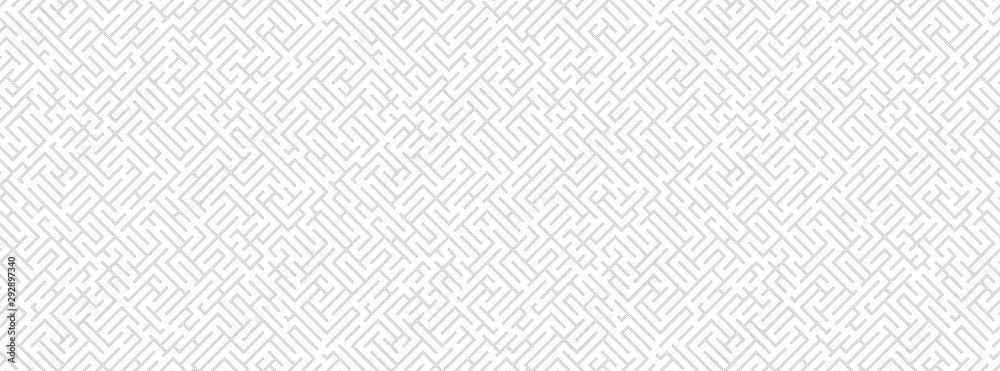 Fototapety, obrazy: Striped geomitrical illustration. Monochrome trellis. Maze.
