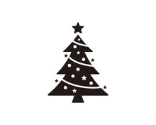 Christmas Tree Icon Symbol Vector