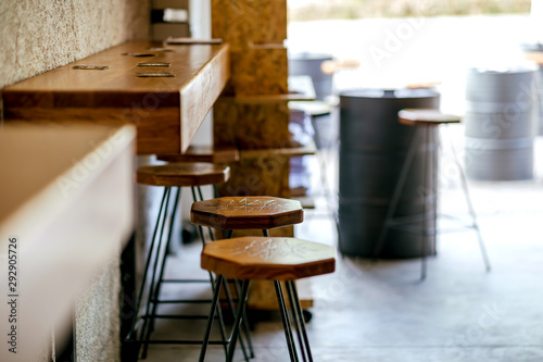 Fényképezés Beer bar brewery interior in the garage