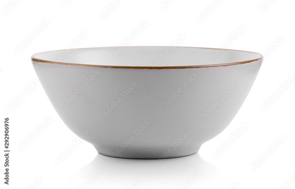 Fototapety, obrazy: ceramic white bowl isolated on white background