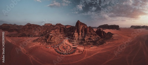 Photo sur Aluminium Bordeaux Wadi Rum