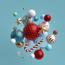 3d Christmas Background. Winte...