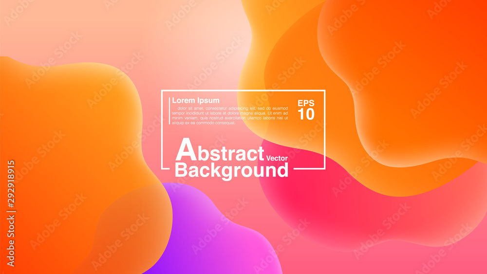 Fototapeta Background Abstract From Fluid Shapes Composition Concept. Lava Lamp Modern Background Abstract. Vector EPS 10