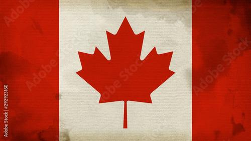 Photo sur Toile Pays d Asie Canada Flag Texture