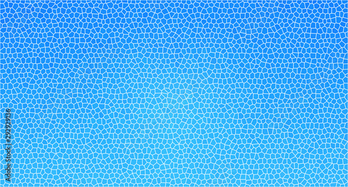 Türaufkleber Künstlich Cracked glass window blue abstract background. Broken surface and damaged glass case pattern