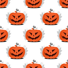 Seamless Pattern Jack Pumpkin ...