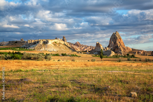 Garden Poster Natural Park Amazing rocky landscape of Cappadocia in the morning
