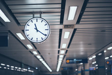 Public Clock In Subway Station...