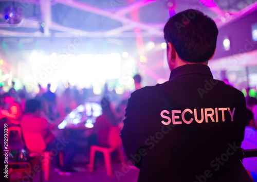 Carta da parati security guard in night club