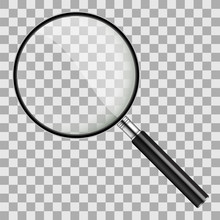 Magnifier In Realistic Style O...