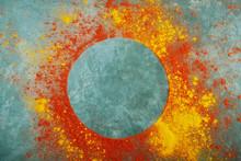 Round Frame Made Of Red Paprik...