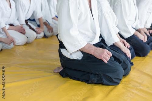 Fotografie, Tablou  People in kimono and hakama on martial arts training