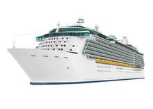 Cruise Ship Isolated
