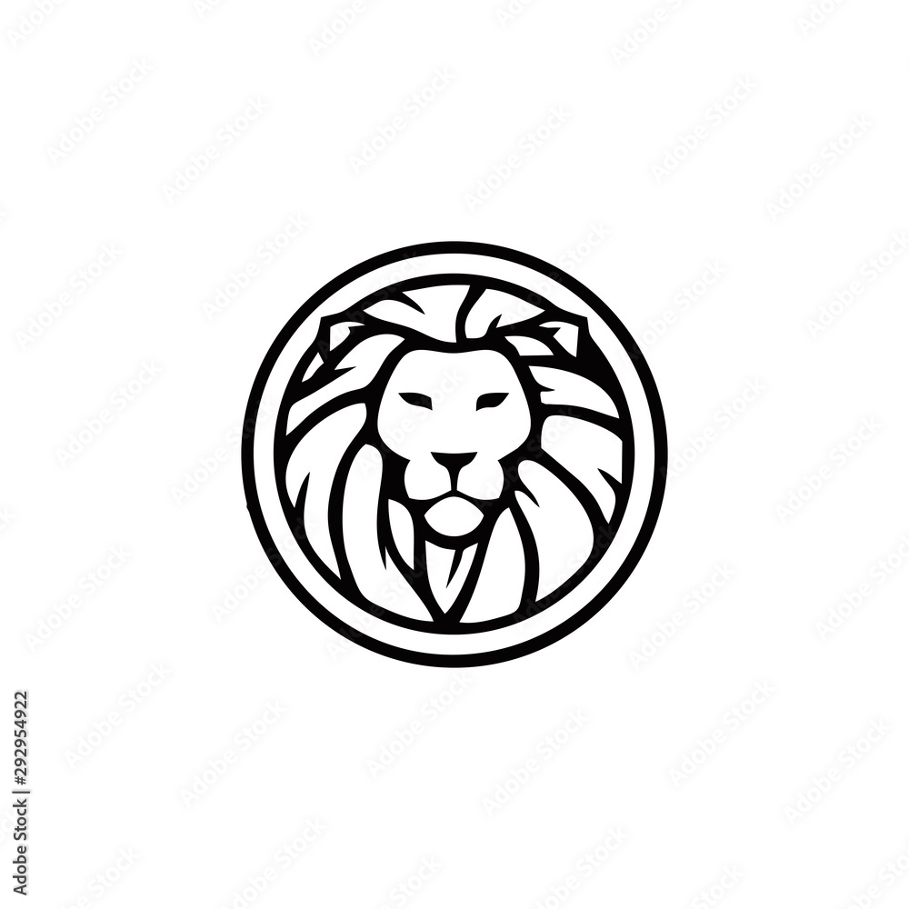 Fototapeta lion logo vector design inspiration