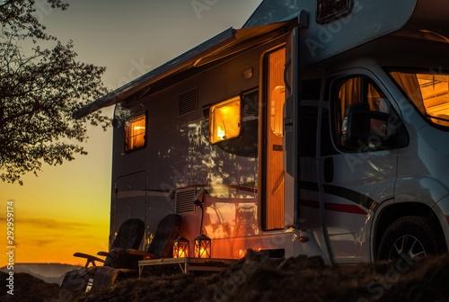 Stampa su Tela Scenic RV Camping Spot