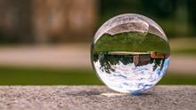 Crystal Ball Landscape Shot At Obernberg Am Inn, Upper Austria, Austria