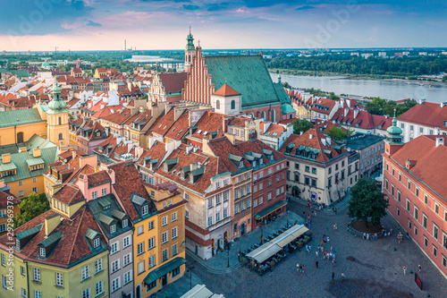 Fototapeta Warszawska panorama obraz