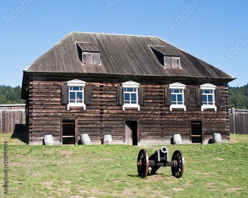 Photo Old Wooden Barracks