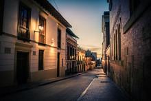 Bogota Old Town At Night