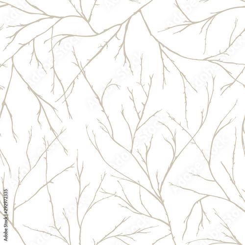 Tapeta do przedpokoju  branches-of-trees-intertwine-seamless-pattern-natural-theme