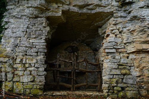Mystic gate in medieval church in Narni, Terni, Umbria, Italia Tapéta, Fotótapéta