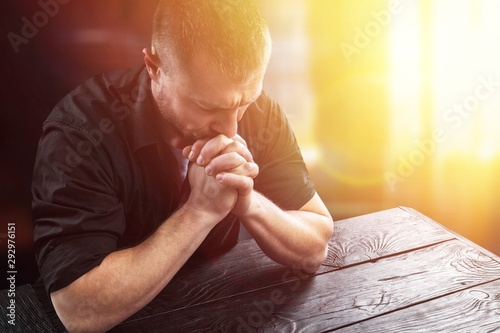 Pray. Fototapeta