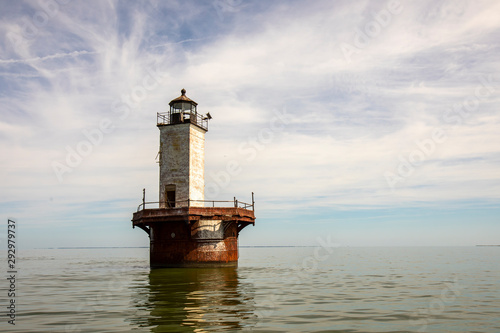 Solomons Lump Lighthouse in Chesapeake Bay Wallpaper Mural