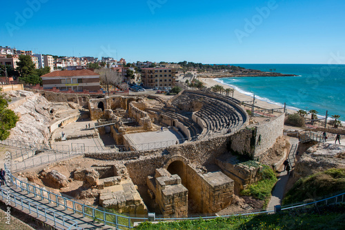 The amphitheatre at Tarragona in Spain Canvas Print