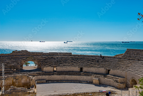 View fromThe amphitheatre at Tarragona in Spain Wallpaper Mural
