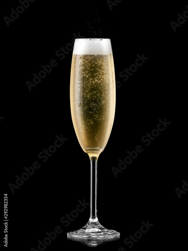 Glass with cold champagne Fototapeta