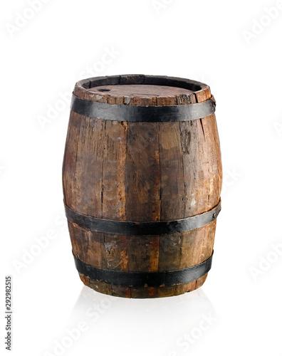 Old oak wine barrel Fotobehang
