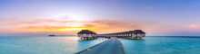 Amazing Sunset Panorama At Mal...