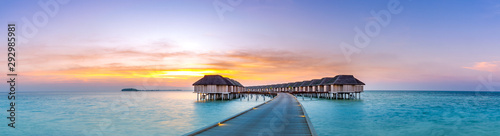 Fotografia Amazing sunset panorama at Maldives