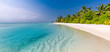 Landscape of paradise tropical island beach. Luxury design of tourism for summer vacation holiday destination concept.