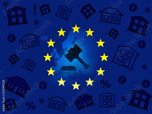 Valokuva  European Union tribunal, verdict on foreign currency loans news background