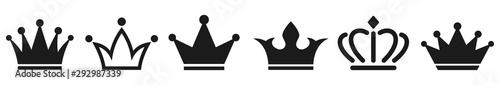 Fotografía Crown icons collection. Vector illustration
