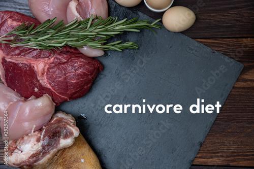 Fotografija carnivore keto diet flat lay.
