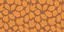 Leaf Fall Seamless Background. Autumn Pattern. Vector Illustration
