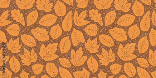 mata magnetyczna Leaf fall seamless background. Autumn pattern. Vector illustration
