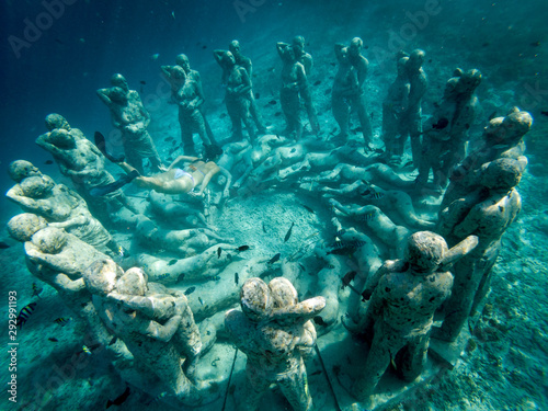 Fototapeta Underwater sculptures at the bottom of the sea, Southeast Asia