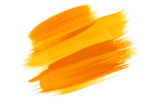 Watercolor Painting Colorful ,yellow,orange Color Background. Abstract Watercolor Hand Drawn Isolated On White Background.Detail Warm,hot Tone Color Brush Stroke Design Art Of Seasons Pattern Backdrop