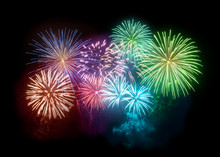 A Large And Bright Fireworks D...