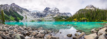 Mountain Panorama With Beautiful Turquoise Lake